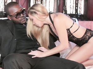 Huge Ebony Cock Stretches Her Fresh Teenage Pussy