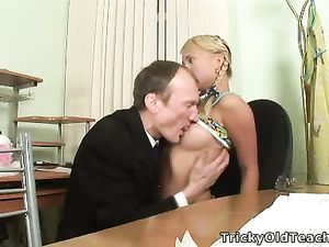 Teacher Sucking Teen Tits Because It Feels Good