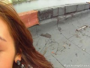 Taking A Slut To The Rooftop For Hot Outdoor Sex