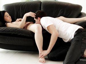 Teen Babe Enjoys Sucking On His Impressive Big Dick