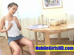 Miniskirt Cutie Blows Her Man And Gets Banged