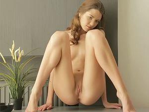 Skinny Oiled Teen Masturbates Her Slippery Pussy