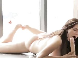 Chubby Brunette Loves Playing With A Dildo