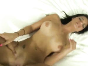 Latina Babe Pounded And Receiving A Cumshot On Ass