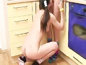 Young Lesbian Teens Licking Each Other's Tight Muffs