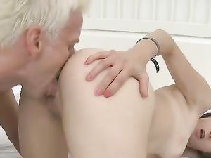 Licking Titties Has The Teen Turned On For Cock