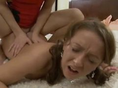 Licked Teeny Bopper Lies On Her Back For Cock