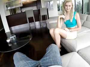 Blonde Princess POV Blowjob And Fucking