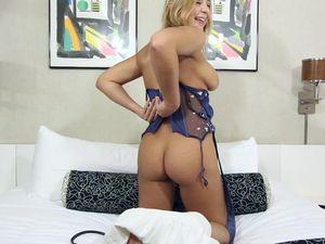 Busty Blonde Teen Sucking And Fucking A Long Schlong