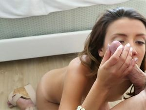 Beautiful Brunette Teen Is Ready To Fuck Anally