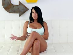 Stunning Brunette Gets Her Asshole Fucked First Time