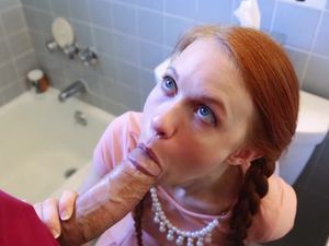 Only Big Cock Can Satisfy This Tiny Redheaded Angel