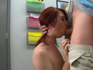 Teacher Takes Advantage Of His Slutty Redheaded Student