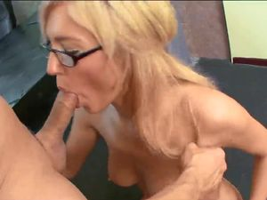 Boss Blows A Big Load All Over Her Secretary Tits