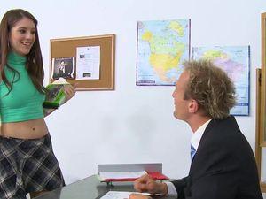 Sluttiest Girl In School And A Bad Teacher Have Sex