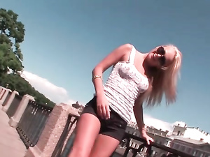 Ivana Sugar Shows Off Her Tight Young Body By The River