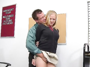 Ultra Cute Girl Gets Dirty With Her School Teacher