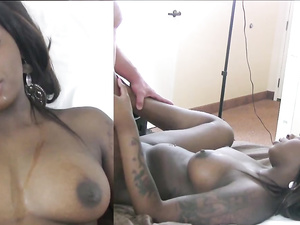 Cute And Curvy Black Amateur Banging In A Hotel Room
