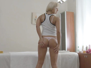 Curvy Ass Cutie Gets Oiled Up And Fucked Hard