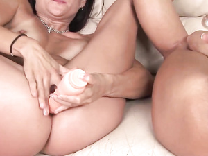 Hot Young Lady Strapon Fucks A Busty Milf Slut