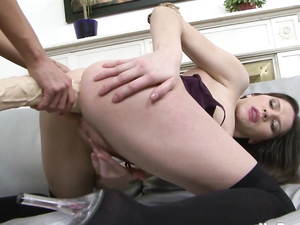 Slow Stretching Of Her Lesbian Ass By A Monster Toy